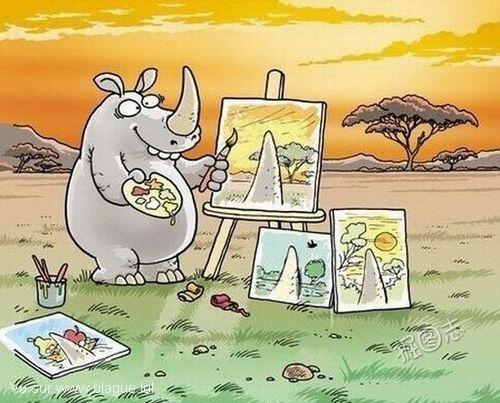 blague-dessin-artiste-rhinoceros