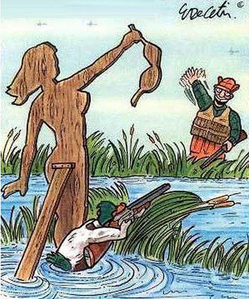blague-dessin-canard-chasseur