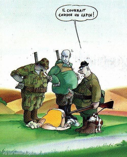 blague-dessin-chasseur-coureur-sportif