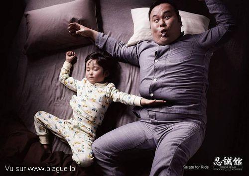 blague-divers-enfant-sommeil-karateka