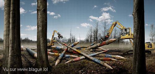 blague-divers-jeux-mikado-avec-grue-et-tronc-d-arbre