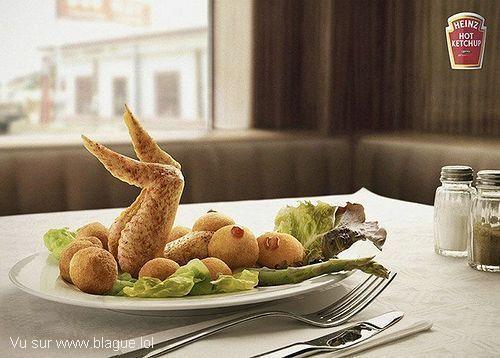 blague-nourriture-poulet-femme-assiette