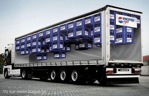 blague-transport-camion-Pepsi-Light